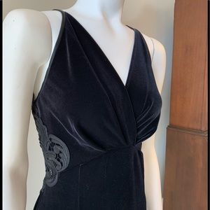 Cache Velvet/Lace Gown